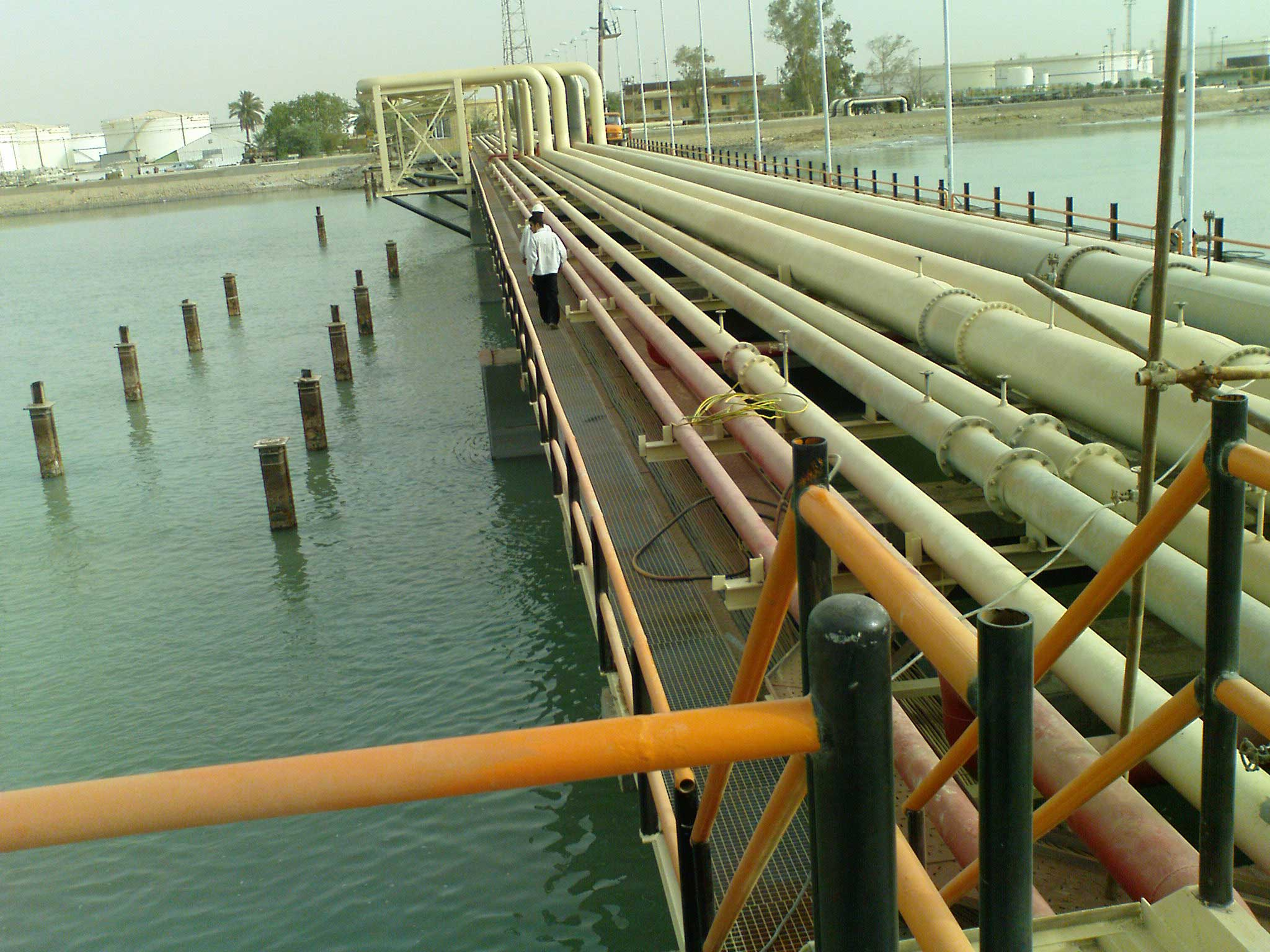 mahshahr oil terminal pipe line project